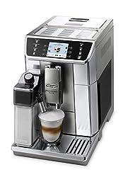 De'Longhi PrimaDonna Elite ECAM 656.55.MS - Kaffeevollautomat mit integriertem Milchsystem, 3,5'' TFT Touchscreen & App-Steuerung, automatische Reinigung, 37,5 x 26 x 48 cm, Edelstahlfront, silber