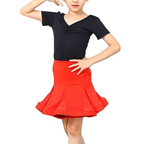 Huatime Latein Tanz Kostüm Mädchen - Kinder Tops Ballett Rock Anzug Aufführung Modern Tanzen Kleidung Salsa Ballsaal Tanzkleidung Wettbewerb Dancewear