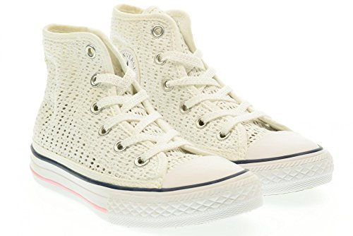CONVERSE - Baskets blanches à lacets, perforées, fille, filles
