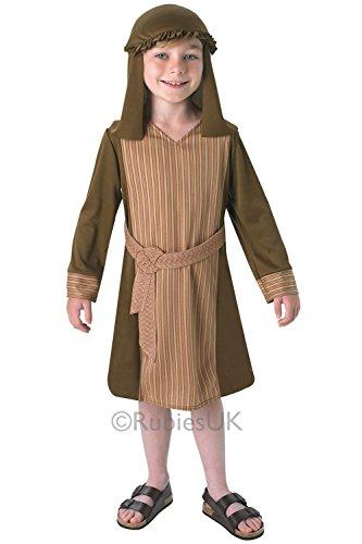 Weihnachtskrippe Hirte Deluxe Kostüm für Kinder Echt Rubine Outfit, (Hirten Kostüm Kinder)