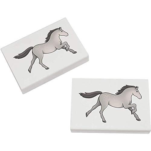 Azeeda 2 x 45mm 'Graues Pferd' Radiergummis (ER00022221)