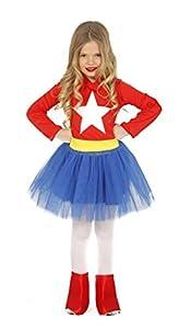 Guirca-83215 Capitán América Disfraz 10-12 años Supergirl, Multicolor (83215)