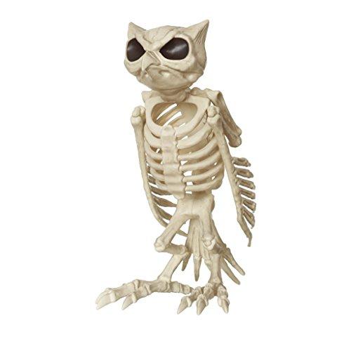 Halloween Dekorationen Haunted Haus Simulation Katze Eule Schädel Knochen Rahmen Horror Bar Home Requisiten ( Color : Owl )