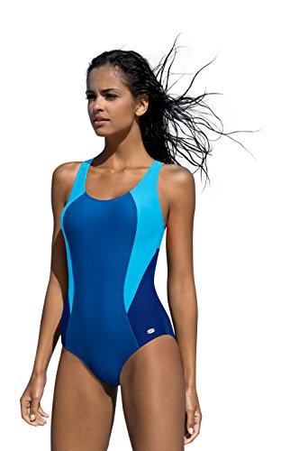 LORIN Badeanzug fur Damen Endurance einteiliger Schwimmanzug Vorgeformte BH-Cups (Badeanzug Bh-cups)