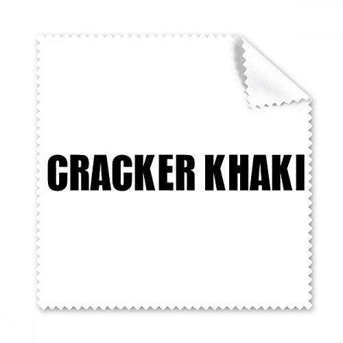 DIYthinker Cracker Khaki Farbe Schwarz Name des Brillenputztuch-Reinigungstuch Telefon Screen Cleaner 5Pcs Geschenk Glas-cracker