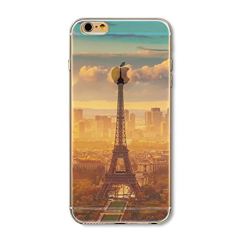 Coque iPhone 6 6s Housse étui-Case Transparent Liquid Crystal en TPU Silicone Clair,Protection Ultra Mince Premium,Coque Prime pour iPhone 6 6s-Paysage-style 3 1