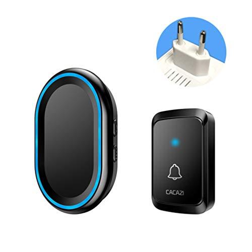 Pulsante del campanello senza fili intelligente campanello senza fili elettronico include campanello per porta telecomando con 58 melodie, 4 livelli di volume, flash led