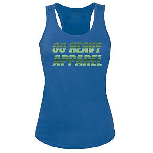 GO HEAVY Mujer Tank Top - Stripes - Azul - L