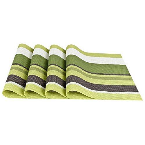 YUANLINGWEI Rechteck Tischsets PVC Tischset Bar Mat Tisch Küche Tischset Tasse Kaffee Pad 4 Pcs (45...