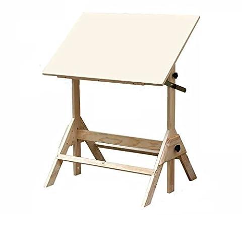 Chevalets Les élèves dessinent un bureau d'écriture / un bureau en bois massif table de dessin cadre chevalet Sketchpad chevalet peinture
