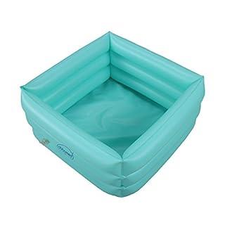 ObboMed® HB-1700 faltbare aufblasbare tragbare Reise Spa Fußpflege Badewanne – Abmessungen 42(L) x 42(W) x 18(H) cm – 16.5 Liter Füllmenge –Entspannung Einweichen Wanne
