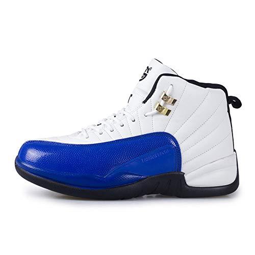 Willsky Herren-Basketball-Schuhe, Performance Shock Absorption Basketball-Stiefel Leichte Trainingsturnschuhe Atmungsaktiv Soft Outdoor Lovers,Blue,36