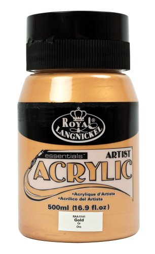 Royal & Langnickel RAA-5141 - Essentials 500 ml Acrylfarbe, gold