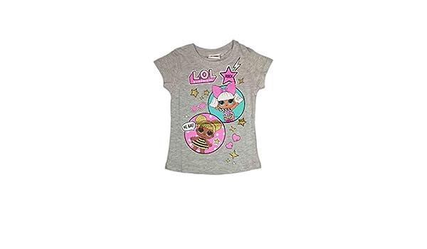 Sabor T-Shirt Maglia Maglietta Mezza Manica biambina LOL Surprise Rosa 6-7anni