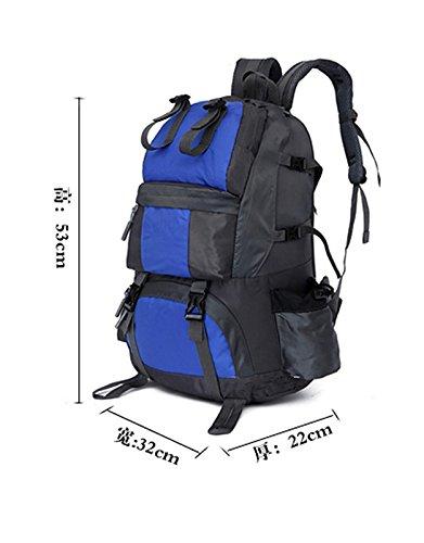appassionati di outdoor alpinismo borsa a tracolla uomo & donne Camping zaino da viaggio (50L), L I