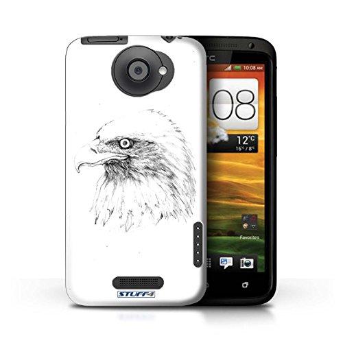Kobalt® Imprimé Etui / Coque pour HTC One X / Cheval conception / Série Dessin Croquis Aigle / Oiseau