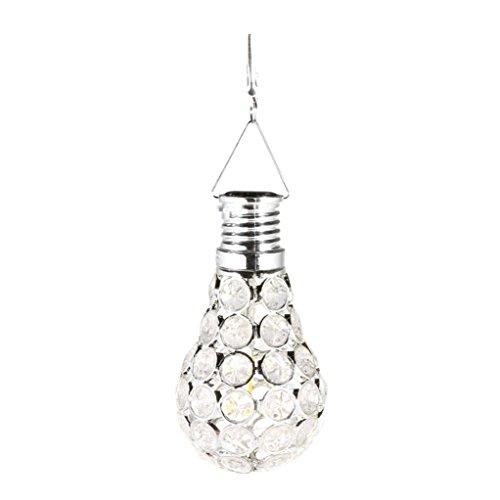 Wandleuchte--sunshineBoby Wasserdichter drehbarer Garten-kampierende hängende LED Licht-Lampen-Birnen-im Freien--Solar Lichterkette Sensor-Licht-Birnen mit Selbstschalter im Freien / Innen-LED-Beleuchtungs-Lampe für Portal-Haustür-Garage Keller (Silber, 11X6X6cm) (Ist Deckenfluter Moderne Tischleuchte,)