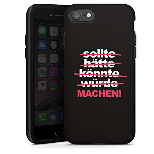 Apple iPhone X Silikon Hülle Case Schutzhülle Motivation Workout Sprüche Tough Case glänzend