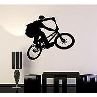 Pared pegatinas Vinilo para bicicleta BMX deporte extremo decoración para sala de estar (Z2103I)