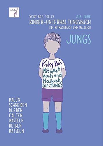 Preisvergleich Produktbild Kinder-Unterhaltungsbuch - Jungs. Mitmachbuch und Malbuch. 3-7 Jahre