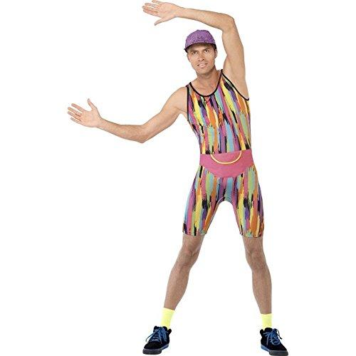 90er Jahre Herren Kostüm Aerobic Trainer Karneval Fasching (Kostüme Jahre Herren 90er)