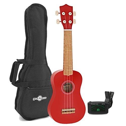 ukulele-gear4music-rosso