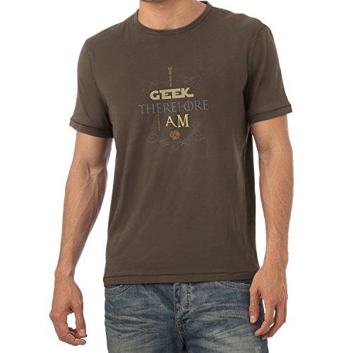 TEXLAB - I geek therefore I am - Herren T-Shirt Braun
