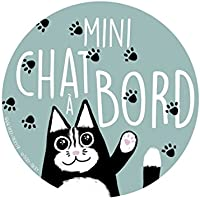 Stickers voiture Bebe a Bord : Mini Chat A Bord