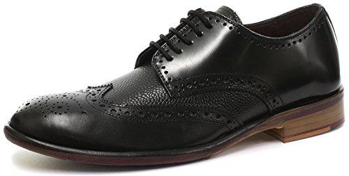 london-brogues-lincoln-derby-black-mens-leather-brogue-shoes-size-uk-9-eu-43