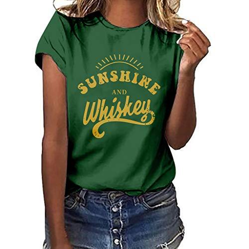 TWIFER Damen Sonnenschein Logo Shirts Mädchen Plus Size Gedruckt Tees Shirt Kurzarm T Shirt Bluse Tops