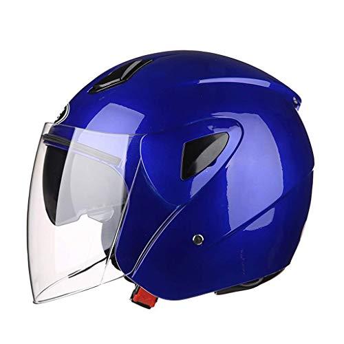 Casco moto modulare Flip Up anteriore Full / Open Casco moto casco luminoso, Casco Casco moto elettrica per uomo e donna Protezione UV estiva portatile Four Seasons Universal ( Color : STYLE E )