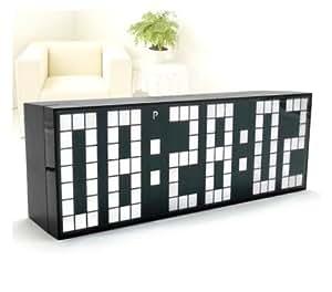 RioRand ® grand nombre Jumbo LED Digital Alarme Horloge murale de bureau-Fonction snooze et lumière Blanc
