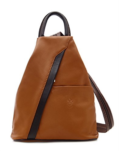 Benagio, Borsa a zainetto donna Dark Coffee and Tan