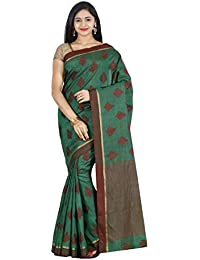 The Chennai Silks - Tussar Silk Saree - Fairway Green - (CCMYFA627)