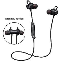 Ecouteur Bluetooth Sport, écouteur Sans Fil Bluetooth Stéréo Hi-Fi avec Microphone HD, Conception Magnétique, 8 Heures de Musique, Pour iPhone Huawei Xiaomi Samsung etc