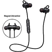 Auricolari Bluetooth Magnetico Stereo Hi-Fi,Cuffie Wireless Bluetooth V4.1 Sweatproof con Microfono HD,Cancellazione del Rumore Avanzate,Tempo di Riproduzione: 6-8 ore,per iPhone, Android Smartphone e