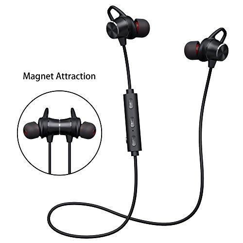 Bluetooth Kopfhörer V4.1 Stereo Sport Kopfhörer In Ear Wireless Ohrhörer Magnetische Headset 8 Stunden Spielzeit für iPhone Samsung Huawei und andere Android-Smartphones -