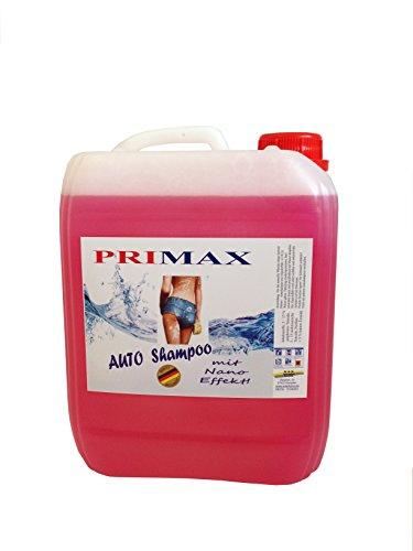 5 Ltr. Primax Autoshampoo mit Lotuseffekt - Versandkostenfrei 16,90 Euro entsprechen 3,38 Euro pro Liter.