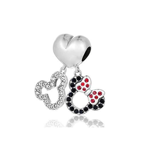 Mickey und Minnie Maus Doppel baumeln (Disney Armband)
