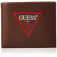 GUESS Men's Wallet with Coin Pocket, Brown - 31GUE13144