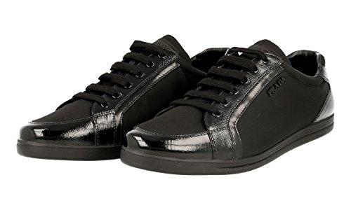 bab90431edf9be Prada Damenschuhe Damen Schuhe Sneakers Turnschuhe Saffiano Schwarz ...