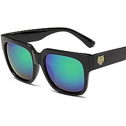 Aierwish Herren und Damen Neue Retro Tigerkopf Persönlichkeit Sonnenbrille Mit Brillenbox (6)