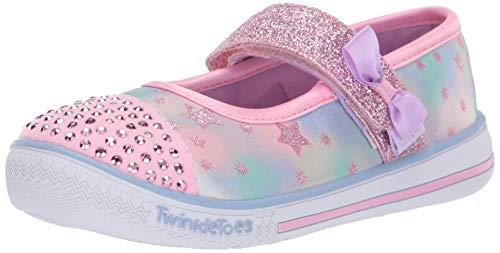 Skechers Mädchen Twinkle Play-Starry Sparks Geschlossene Ballerinas, (Pink Multi Pkmt), 23 EU
