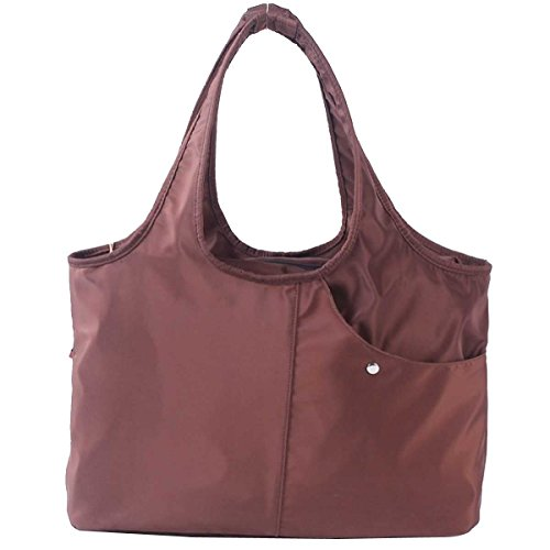 Donne Casual Moda Borsa A Tracolla Stampa Borsa In Nylon Brown