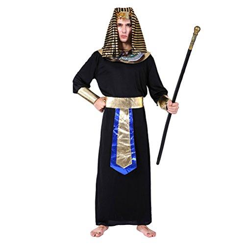 Zhhlaixing König von Ägypten Kostüm Ägyptischen Pharao Halloween Herren Kostüm Erwachsenenkostüm Halloweenkostüm Karnevalskostüm ()