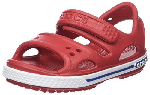 Crocs Kids' Crocband Ii Sandal Ps K, Red (Pepper/Blue Jean), 11 UK Child