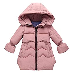 Livoral Kinder Winter MantelMode Kinder Jacke Junge Mädchen dicken Mantel Dicke Winterjacke Kleidung(Rosa,110)