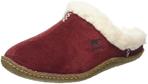 Sorel Nakiska Slide, Pantofole Donna, Rosso (Garnet Red 631Garnet Red 631), 40 EU