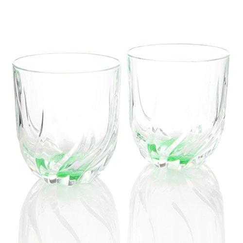 RCR Toscana Thumbler Cristal de verre vert Lot de 2