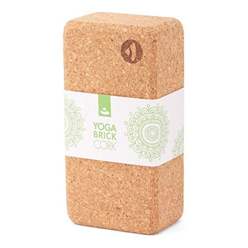 Yogaklotz Kork, Yoga Block, Yoga Brick aus Naturkork, praktisches Hilfsmittel für Yoga, Yoga Zubehör